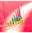 abstract business graph vector image vector image