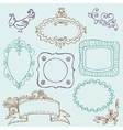 sweet doodle frames vector image vector image