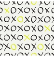 seamless pattern with tic-tac-toe vector image