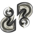 abstract question mark symbol vector image