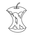 Apple core icon outline style vector image