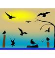 birds paradise vector image