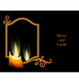 Candle on black vector image