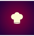 Chef cap icon vector image