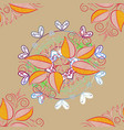 Classical september embroidery autumn leaves vector image