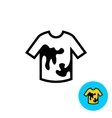 Clothes with stains icon vector image