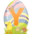 Cute initial letter Y vector image