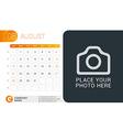 Desk Calendar for 2016 Year August Design Print vector image