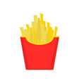 fast food french fries tasty street food vector image