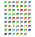 flags of Africa countries vector image