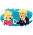 Hillary Clinton and Donald Trump Caricature vector image