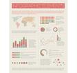 infographics light retro colors vector image