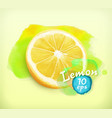 Lemon watercolor vector image