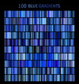 mega set of 100 blue gradients vector image