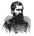 oliver otis howard during the civil war vintage vector image