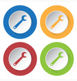 set of four icons - spanner vector image