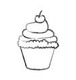 sweet cupcake dessert vector image