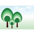 Vector tree family vector image