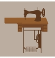 old sewing machine vintage antique tailor fashion vector image