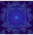 Seamless dark blue christmas pattern vector image vector image