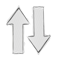 Arrows up and down vector image
