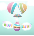 easter egg parachuting from broken egg vector image