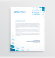 Clean letterhead design with abstract blue shapes vector image