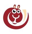 Wool alpaca logo vector image
