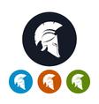 Antique helmet icon vector image