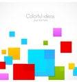 Abstract colorful squares vector image vector image