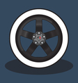 Car Rim and Tire vector image