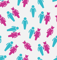 Seamless Pattern of Male and Female symbols vector image