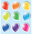 vector set of colorful paper balloons vector image vector image