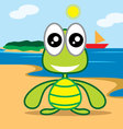 turle at beach vector image vector image