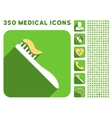 Tooth Brush Icon and Medical Longshadow Icon Set vector image