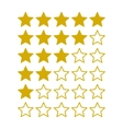 Simple Rating Stars on White background vector image