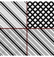 black and white striped patterns vector image