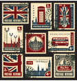 British postage stamps vector image