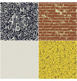four educational seamless patterns collection vector image
