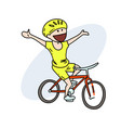 happy biker hand drawn image vector image