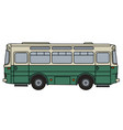 old green and cream bus vector image