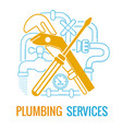 plumbing services icon vector image