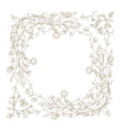 Sketch of floral frame for your design vector image
