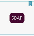 soap icon simple vector image