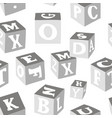 wooden alphabet blocks pattern vector image