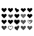 Black heart icon vector image vector image