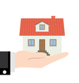house hand vector image