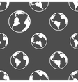 Silhouette planet earth pattern vector image vector image