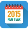 Simple new year calendar icon in flat style vector image