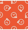 Orange overnight daily workhours pattern vector image